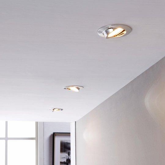 LED-kohdevalaisin Andrej, pyöreä, kromi, 3-sarja