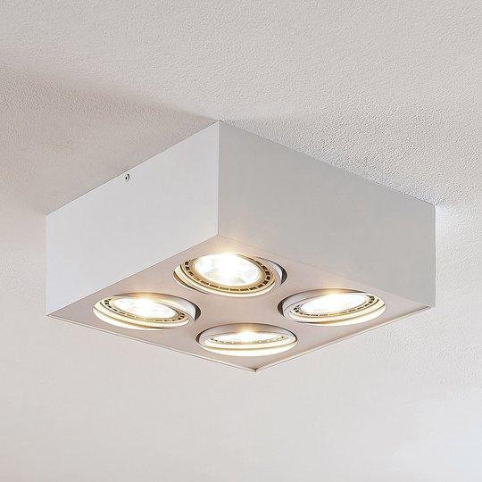 Arcchio Dwight -LED-kattovalo, valk. 4-lamp.