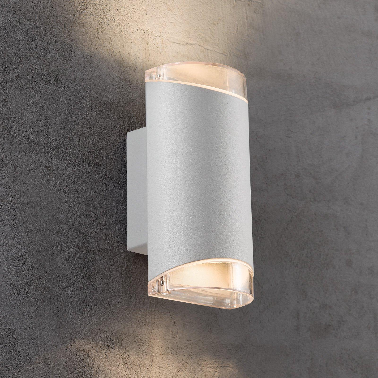 Utendørs vegglampe Arn, 2 lyskilder, hvit