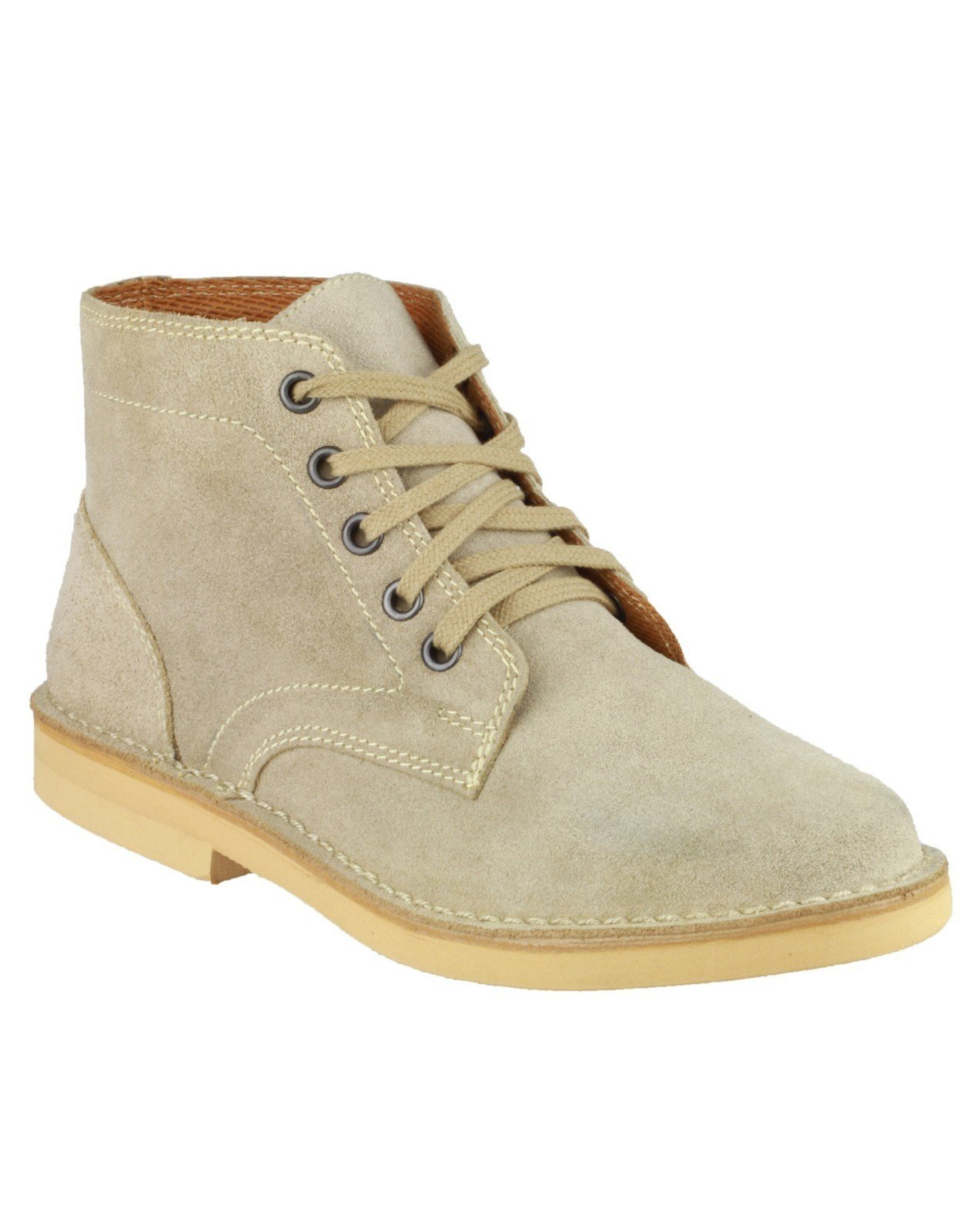 Amblers Men's Lace up Desert Boot Honey 07887 - Taupe 6