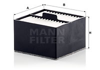 Polttoainesuodatin MANN-FILTER PU 911