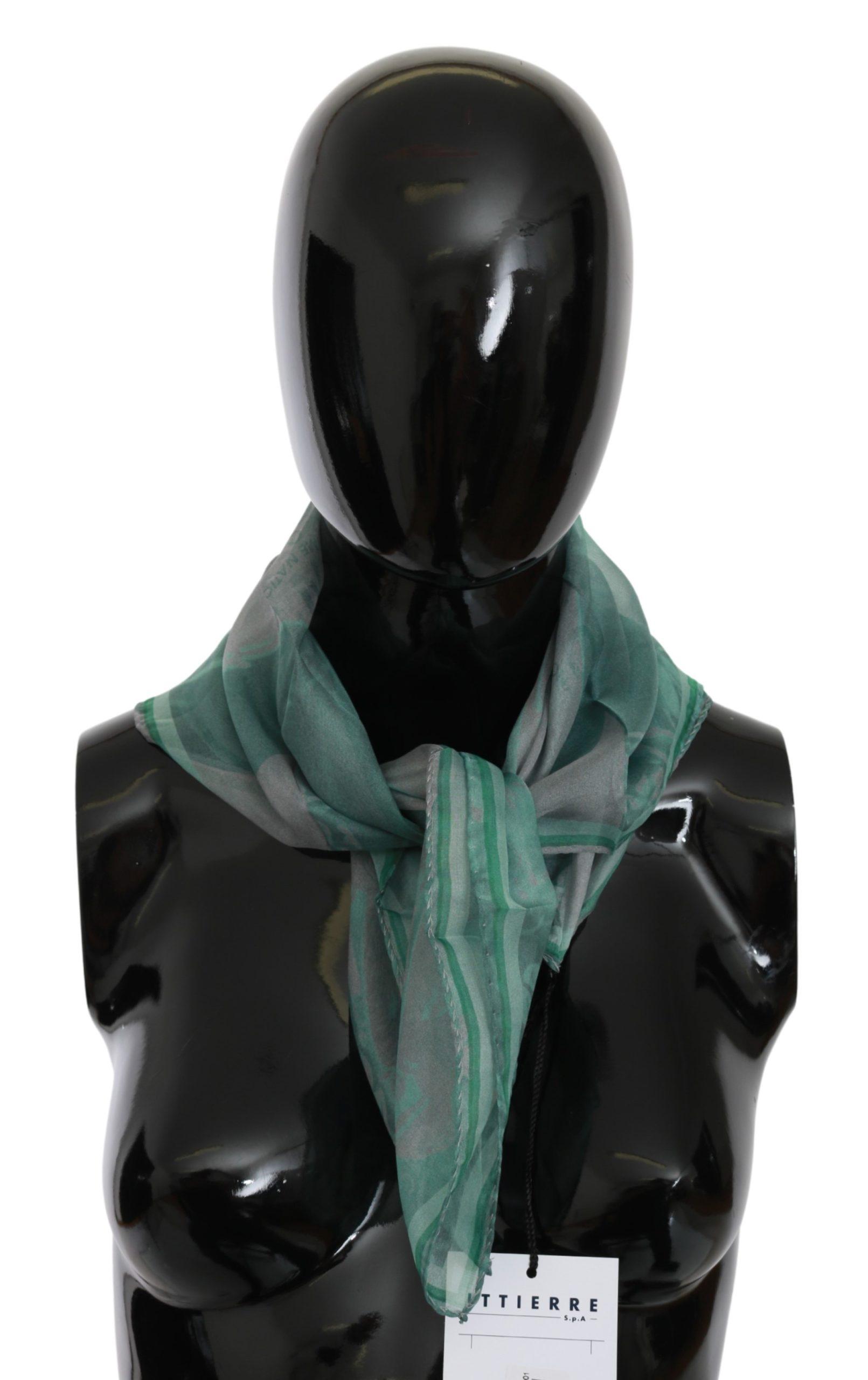 Costume National Women's Silk Foulard Wrap Scarf Green MS1650