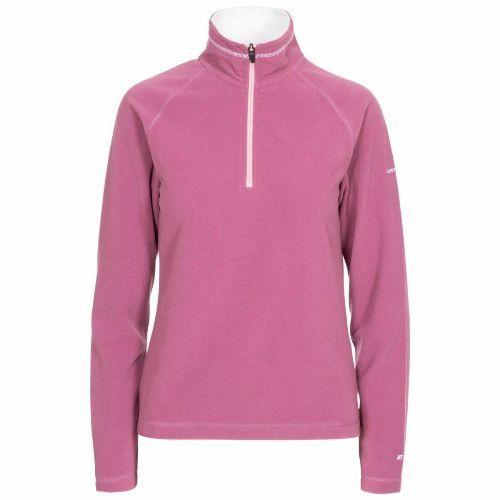 Trespass Women's Half Zip Top Fleece Various Colours Skylar - Mauve XS