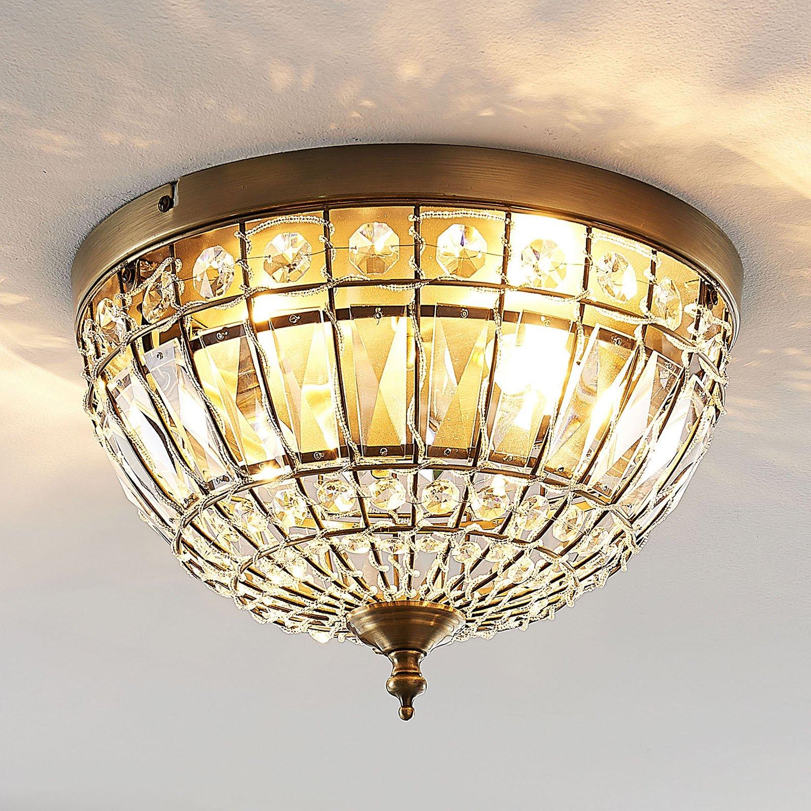 Lindby Jamaal taklampe av glass