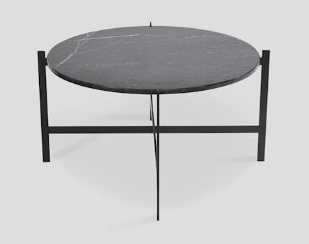 Deck table large - svart marmor / svartlakkert stamme
