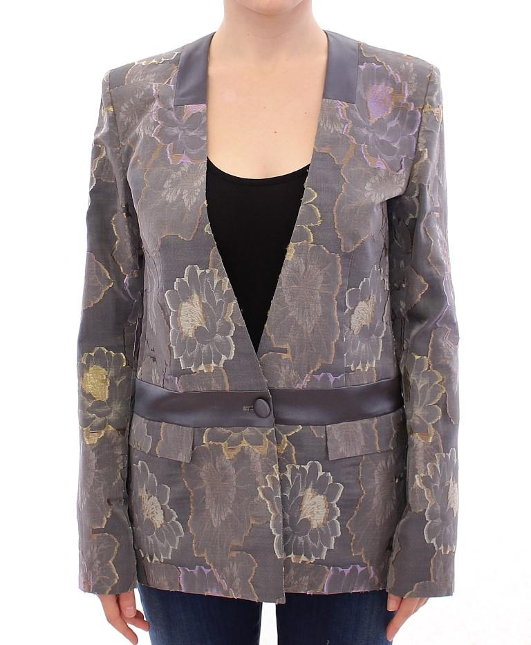 Multicolor Silk Floral Cotton Blazer - IT42|M