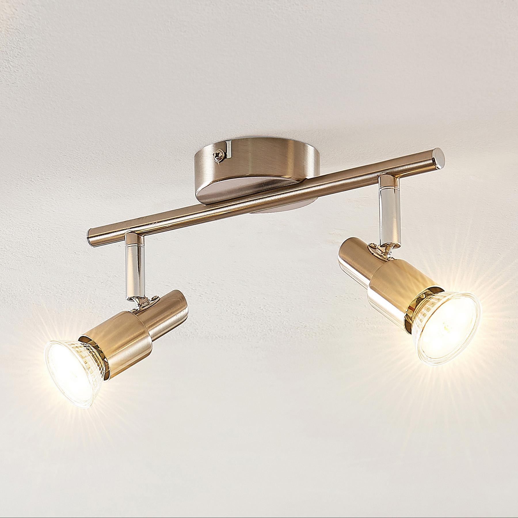 ELC Farida -LED-kohdevalo, nikkeli, 2-lamp.