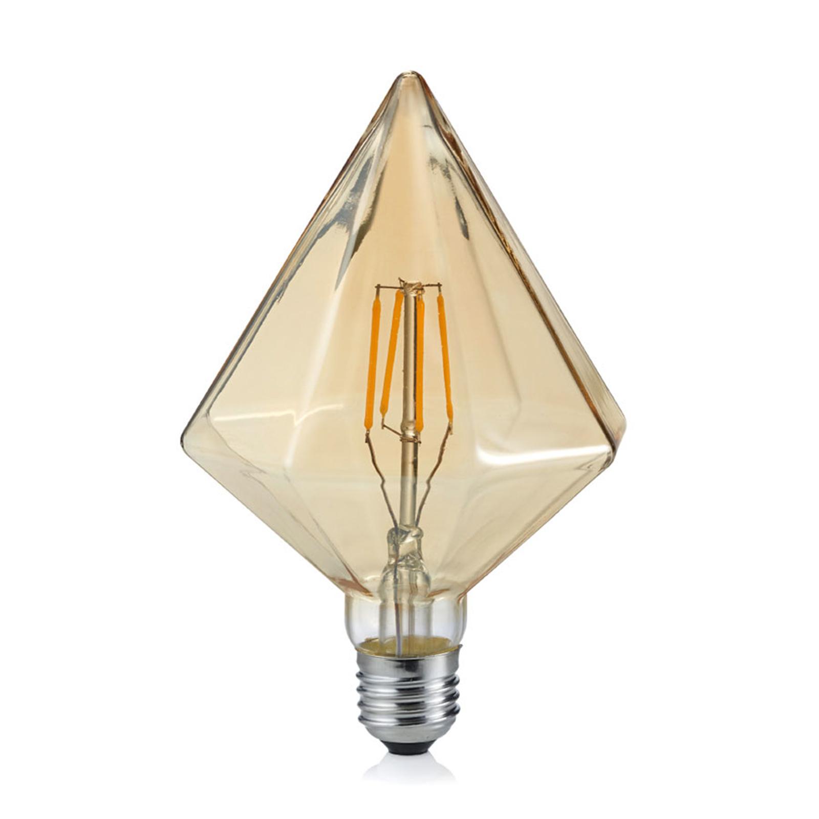 LED-lamppu E27 4W 2700K, timantti, meripihka