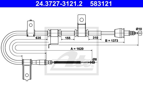 Käsijarruvaijeri ATE 24.3727-3121.2