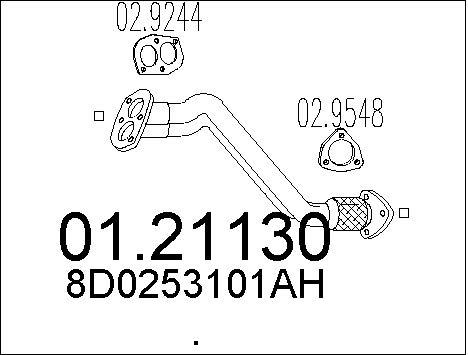 Pakoputki MTS 01.21130