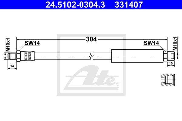 Jarruletku ATE 24.5102-0304.3