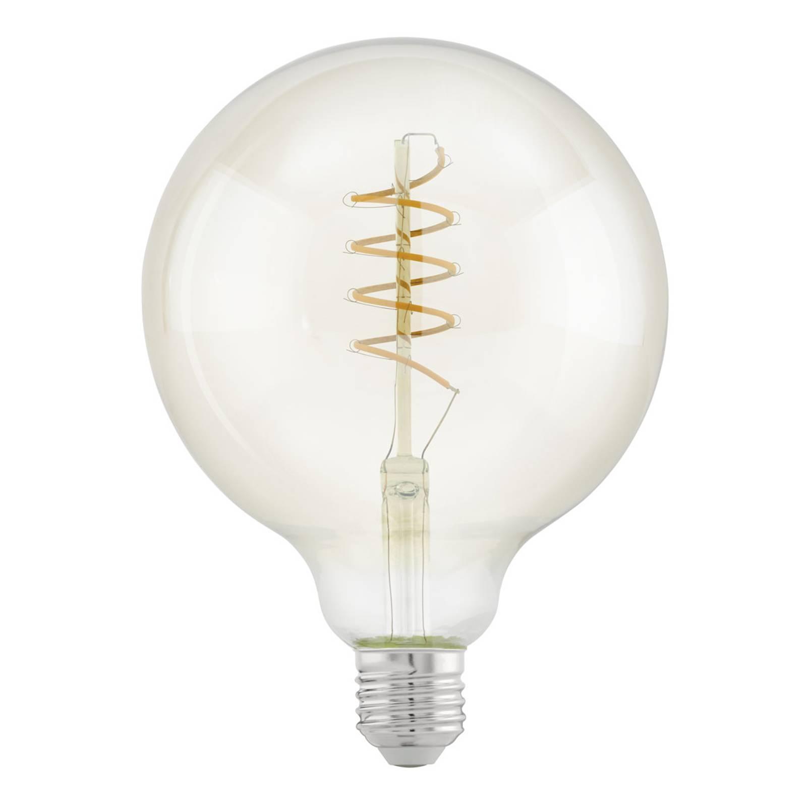 LED-globe-lamppu E27 G125 4W Spiral, kirkas