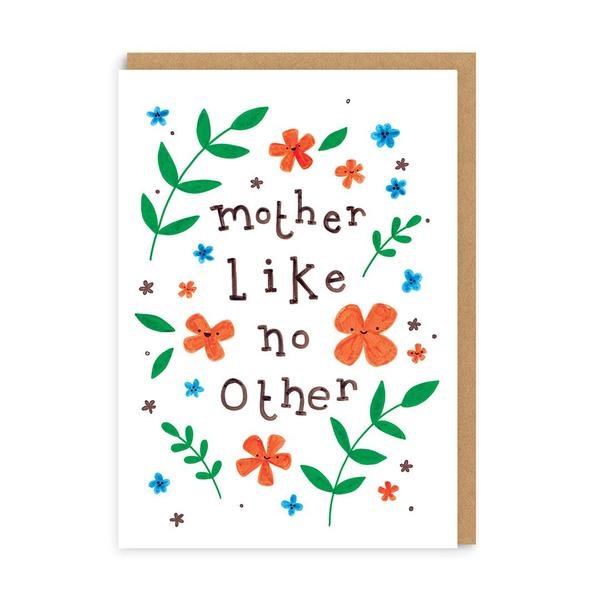 Mother Like No Other Floral Greeting Card