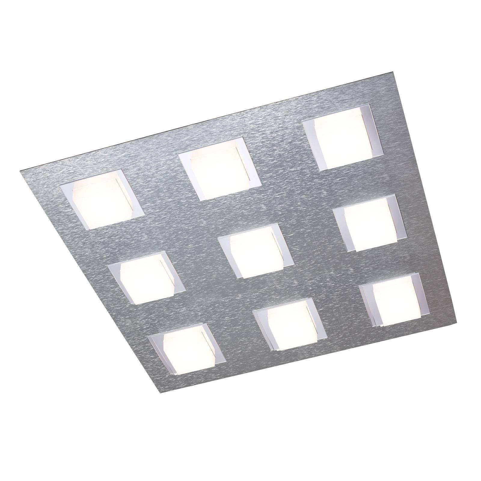 GROSSMANN Basic taklampe, 9 lyskilder, aluminium