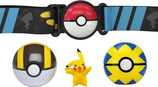 Pokémon Clip 'N Go Belt Set Ultraball, Quickball og Pikachu