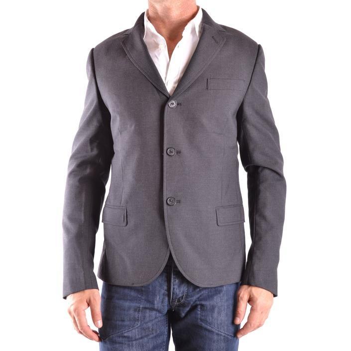 Daniele Alessandrini Men's Blazer Grey 163192 - grey 48