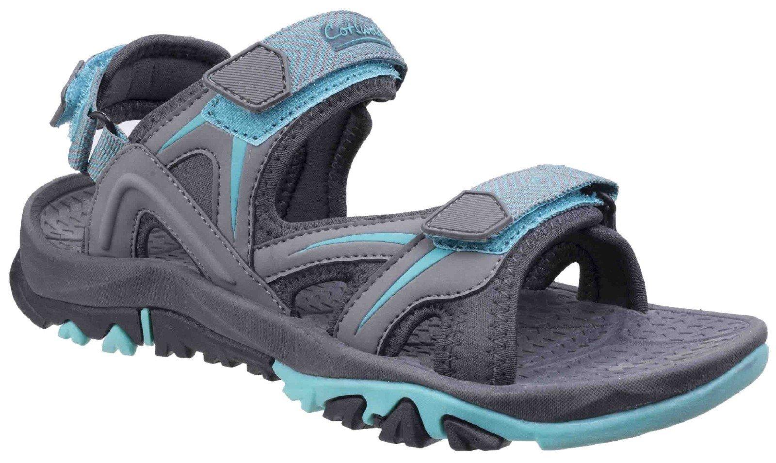 Cotswold Women's Swinbrook Sandal Various Colours 26266 - Grey/Aqua 3