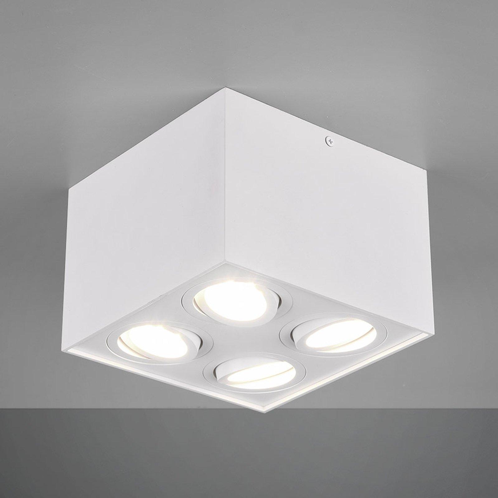 Taklampe Biscuit, 4 lyskilder, hvit