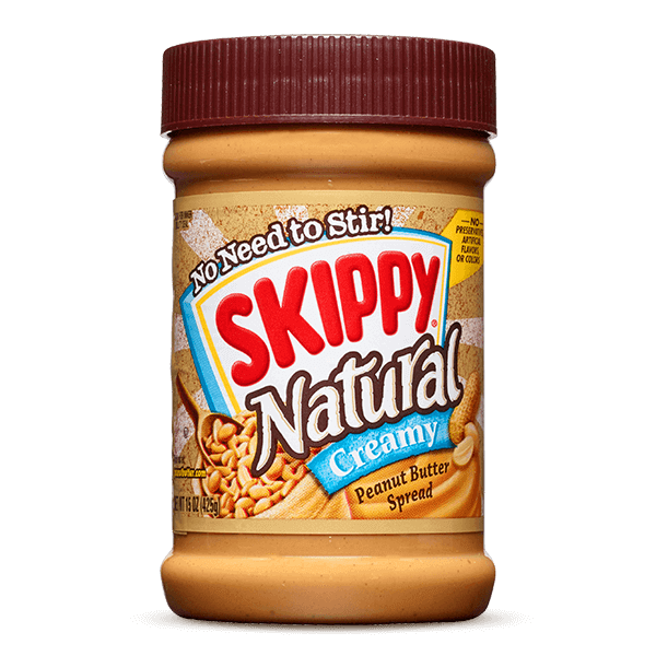 Skippy Natural Creamy Peanut Butter 425g