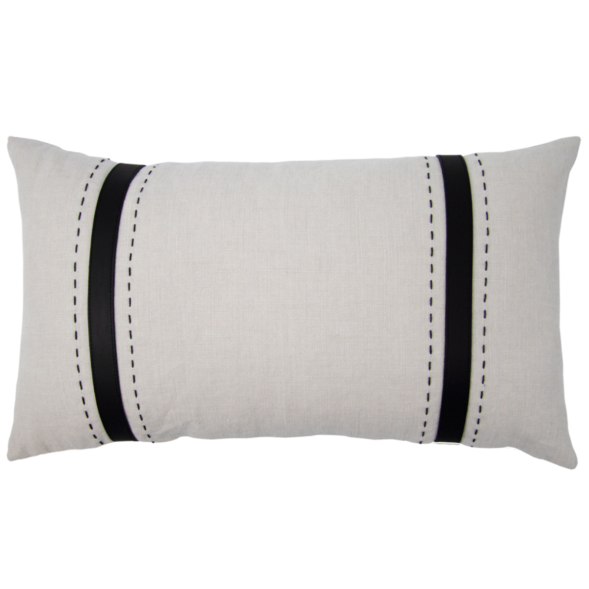 de Le Cuona | Bracken Cushion With Leather Straps Mushroom