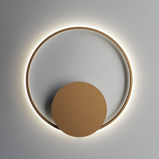 Fabbian Olympic -LED-seinävalo, Ø 60 cm, pronssi