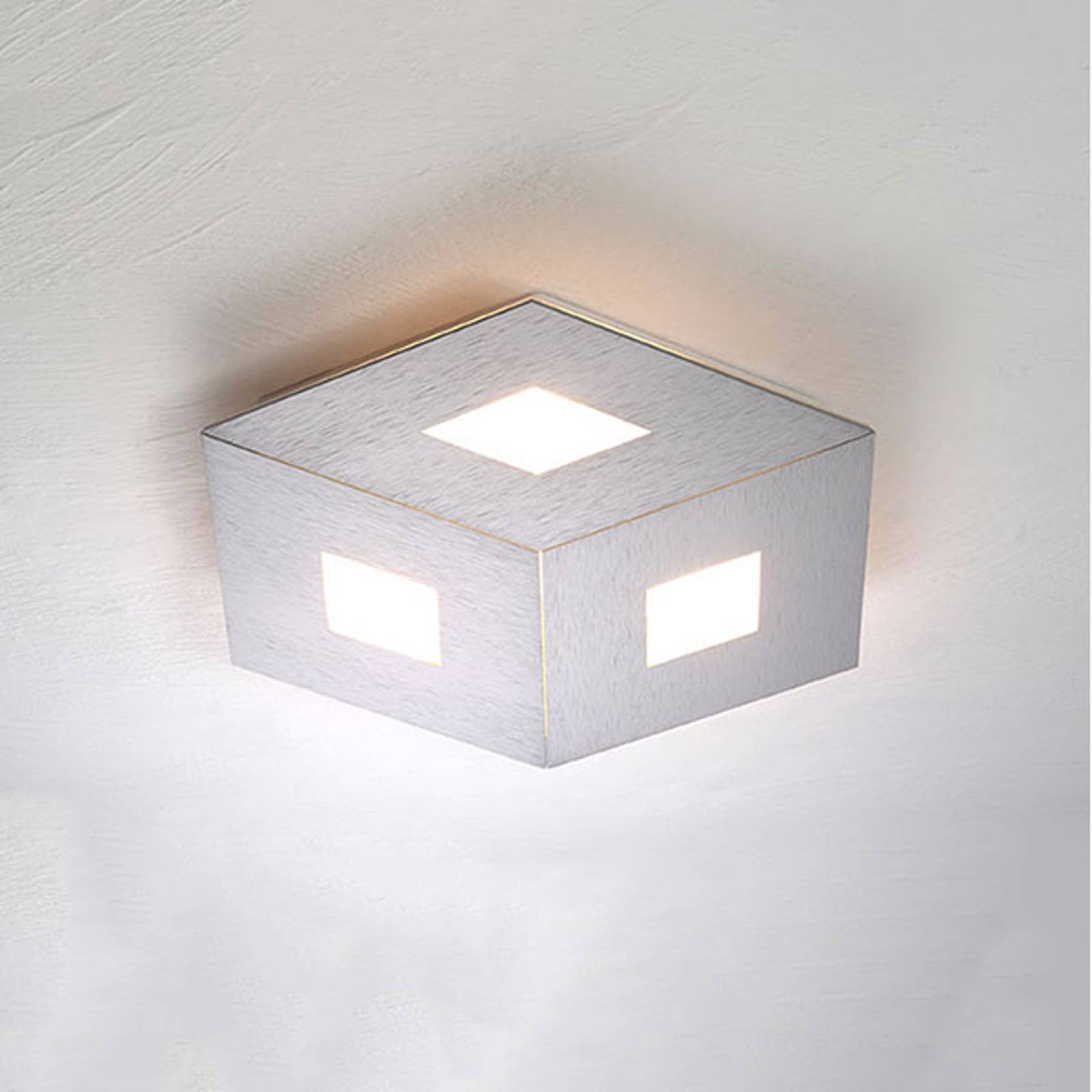 Bopp Box Comfort LED-kattovalaisin, hopea 35cm