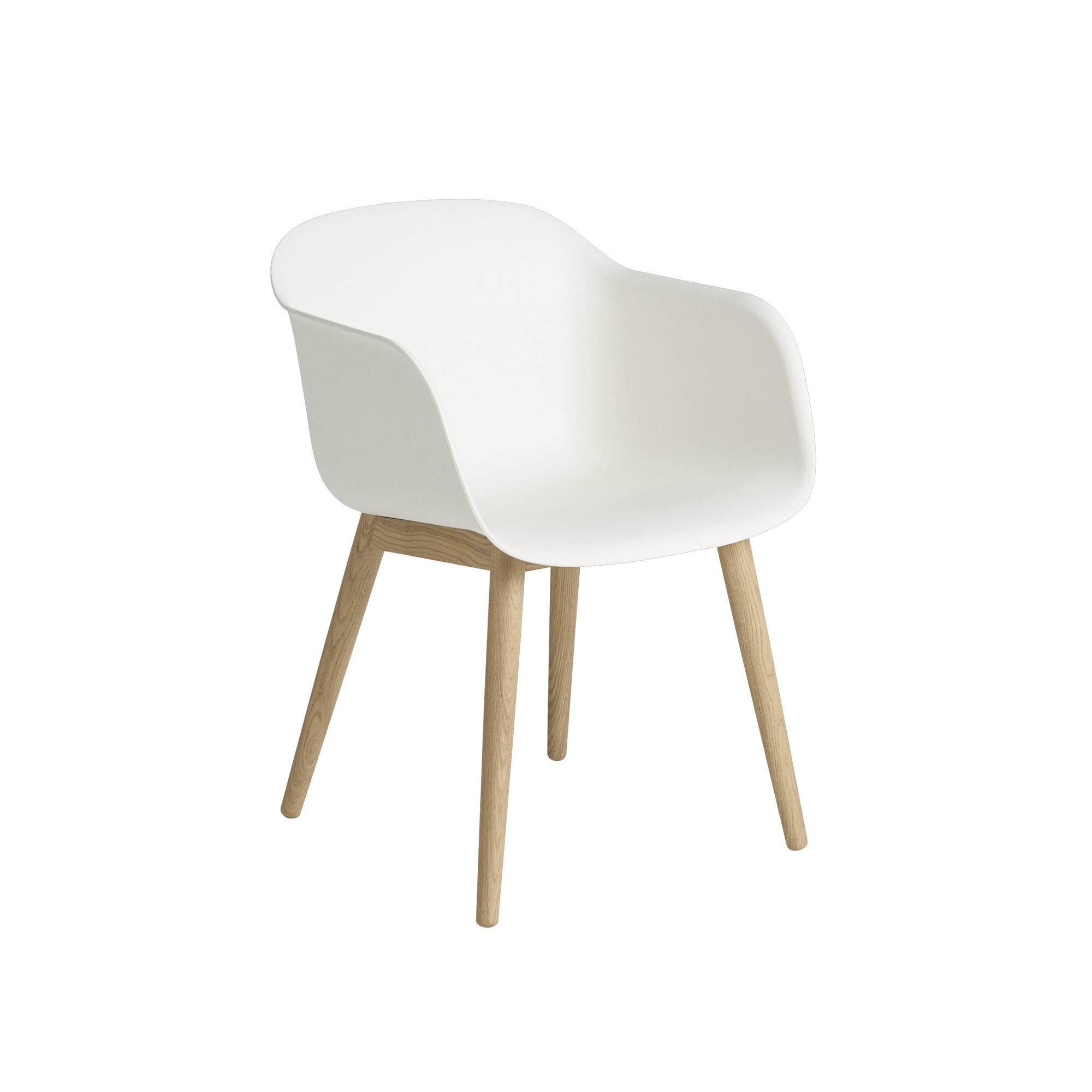 Muuto Stol Fiber wood vit/ek