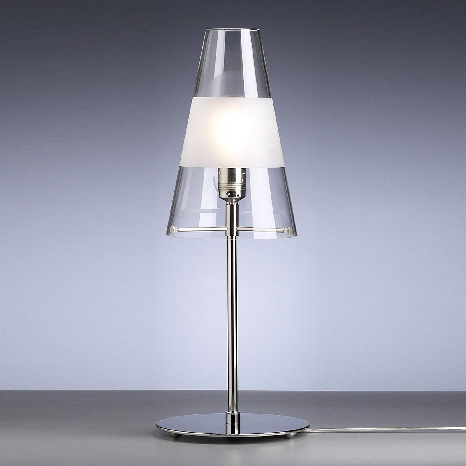 Bordlampe av Walter Schnepel klar med ring matt