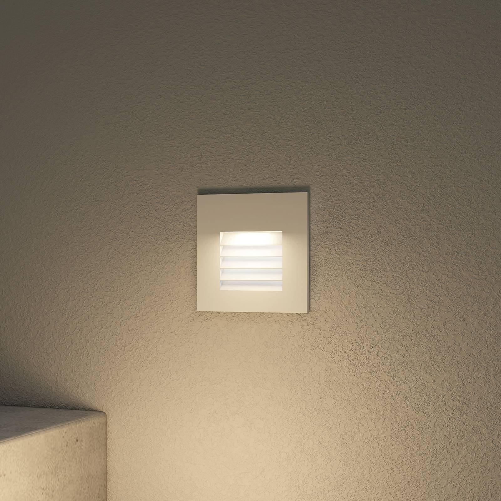Arcchio Makio LED-iinnfellingslampe, hvit
