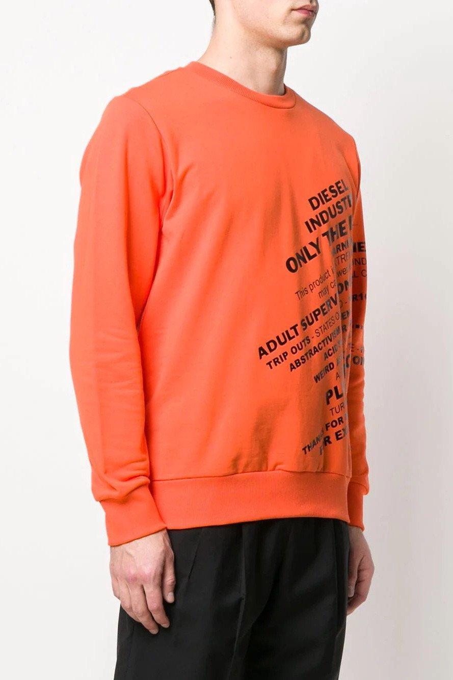 Diesel Women's Sweatshirt Various Colours 312571 - orange-2 2XS