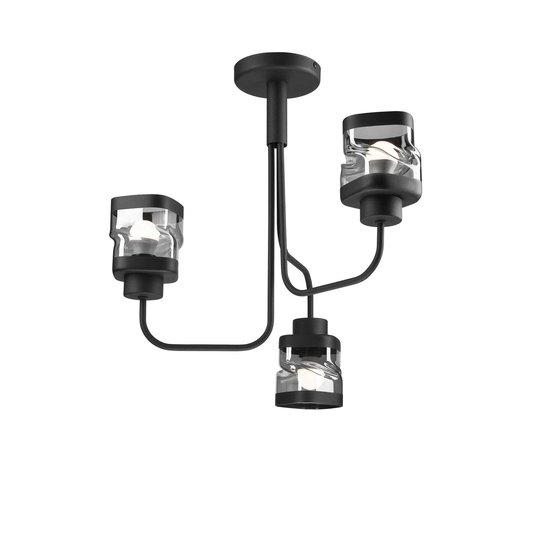 Taklampe Thor, 3 lyskilder, svart
