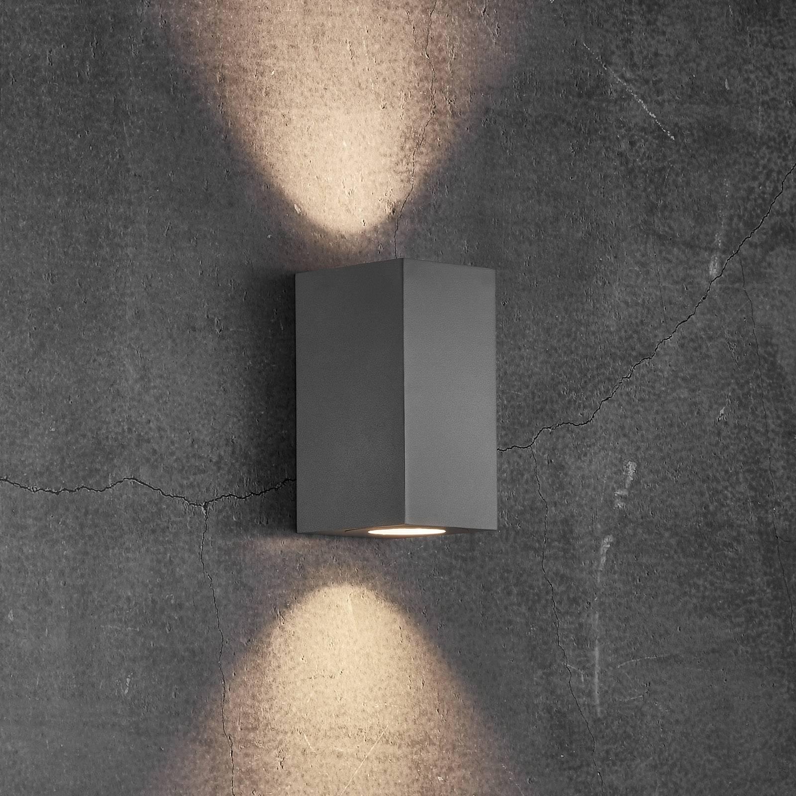 Ulkoseinälamppu Canto Maxi Kubi 2, 17 cm, harmaa