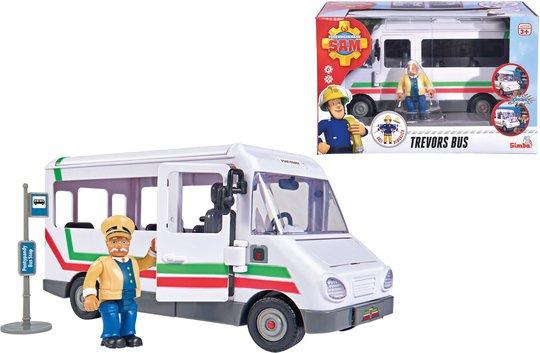 Brannmann Sam Lekesett Trevors Buss + Figur