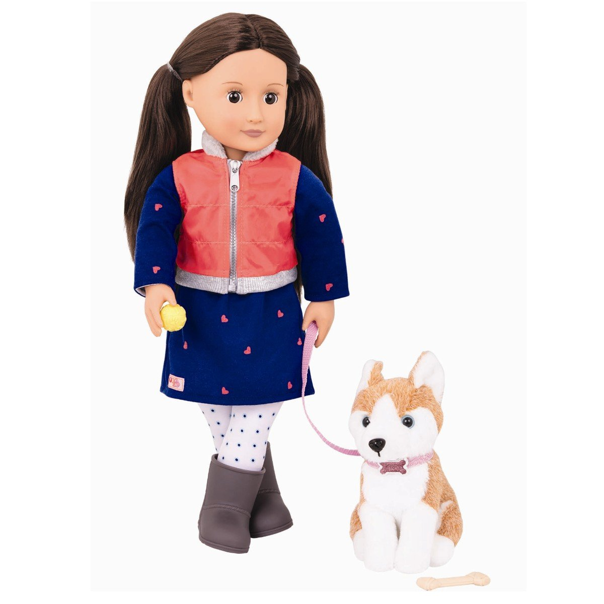 Our Generation - Leslie Doll and Pet Husky (731201)