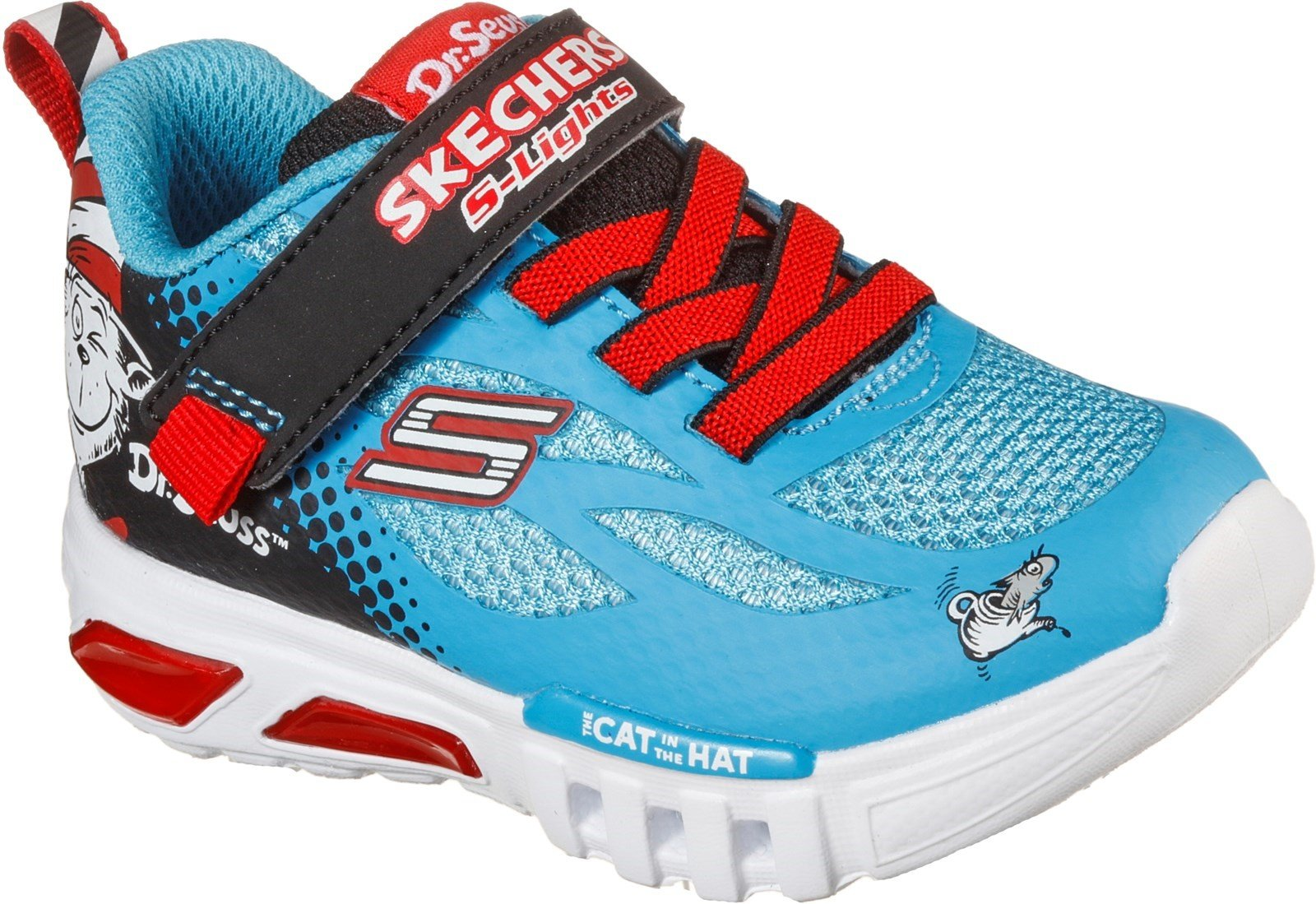 Skechers Kid's Flex-Glow Lighted Things Sports Trainer Multicolor 32086 - Blue/Black 4