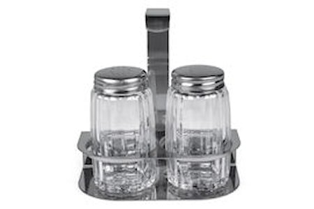 Salt & peppersett i stativ