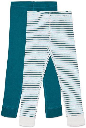 Luca & Lola Omero Stillongs 2-pack, Green/Stripes 86-92