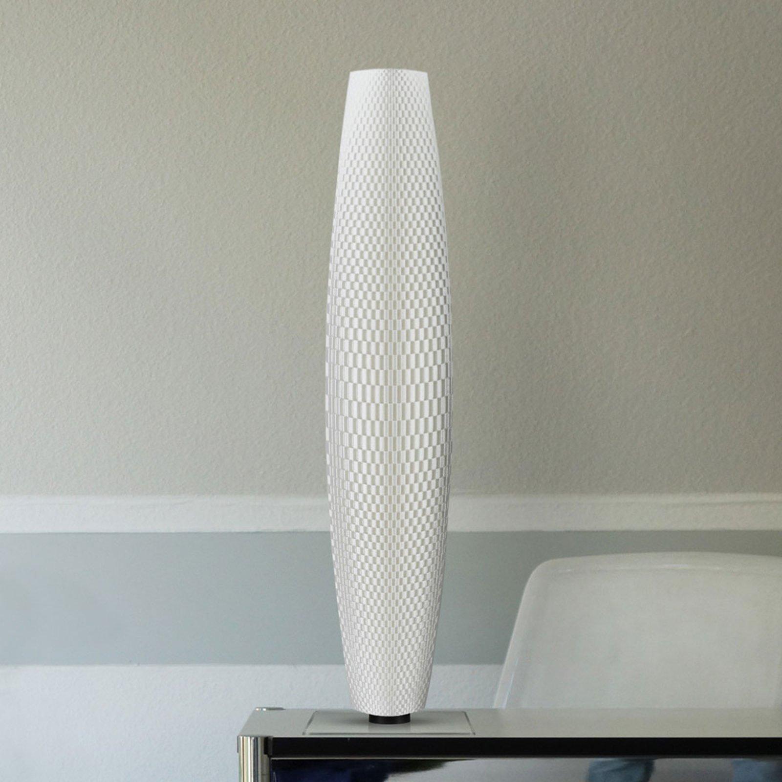 LED-gulvlampe Flechtwerk Pur hvit 75 cm