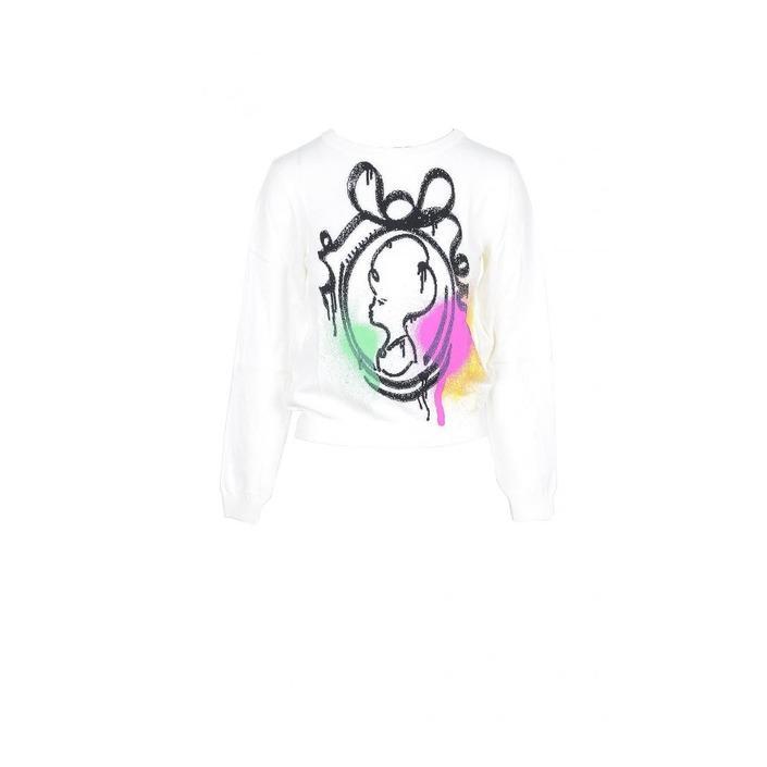 Boutique Moschino Women's Sweater White 172049 - white 38