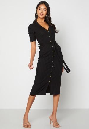 Happy Holly Sandie rib dress Black 40/42
