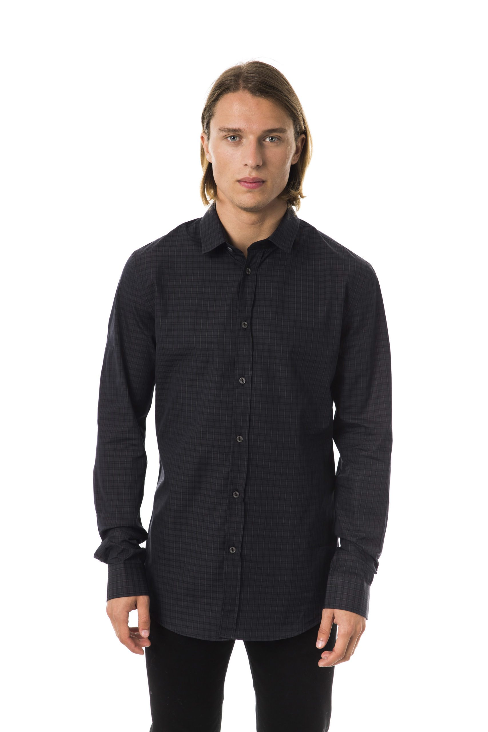 BYBLOS Men's Nero Shirt Black BY1394852 - XS