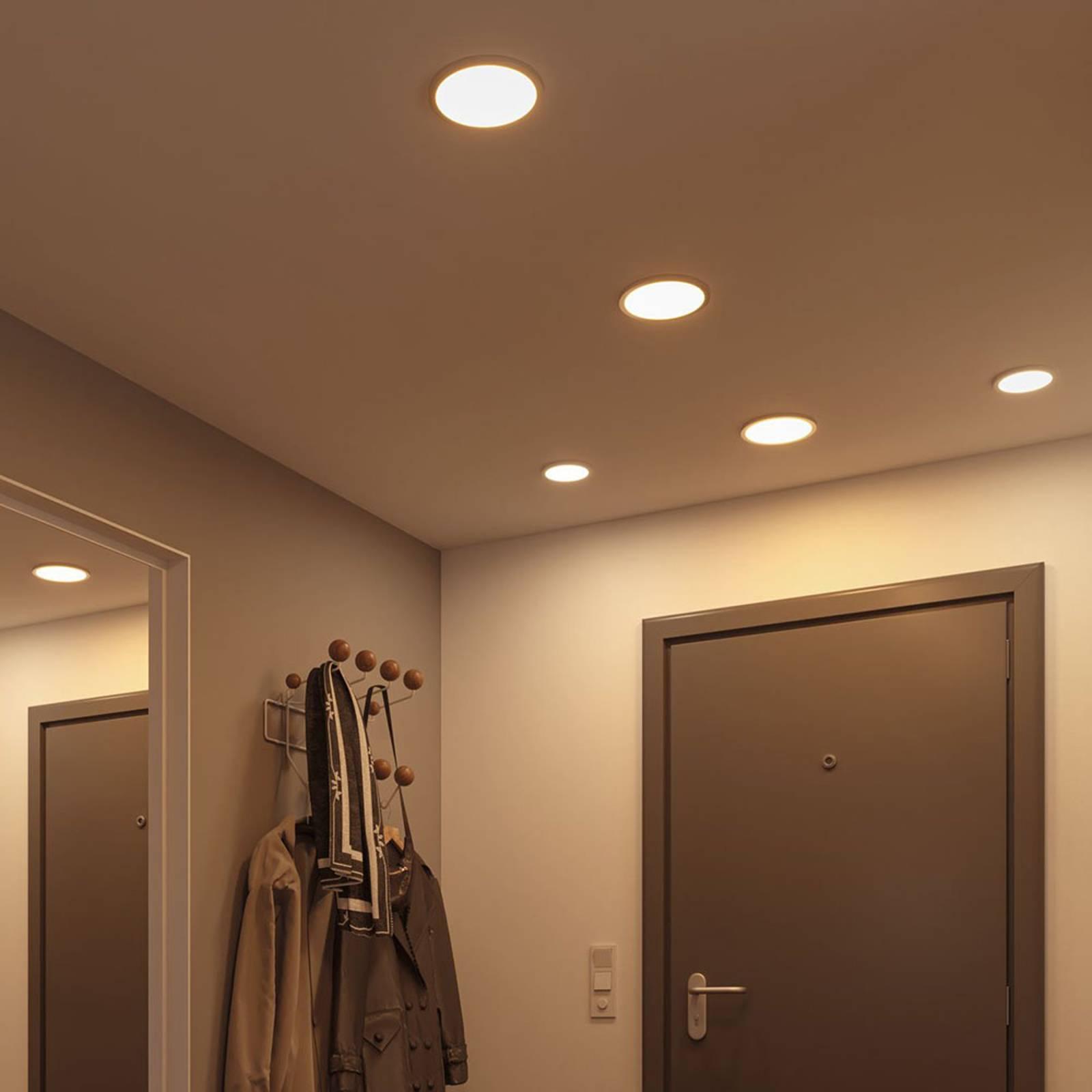 Paulmann-LED-paneeli Areo 4000 K valkoinen, 17,5cm