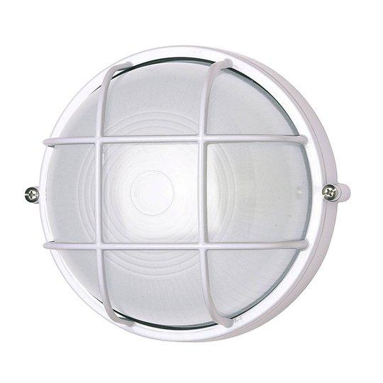 Vegglampe 400180 rund med gitterelement, hvit