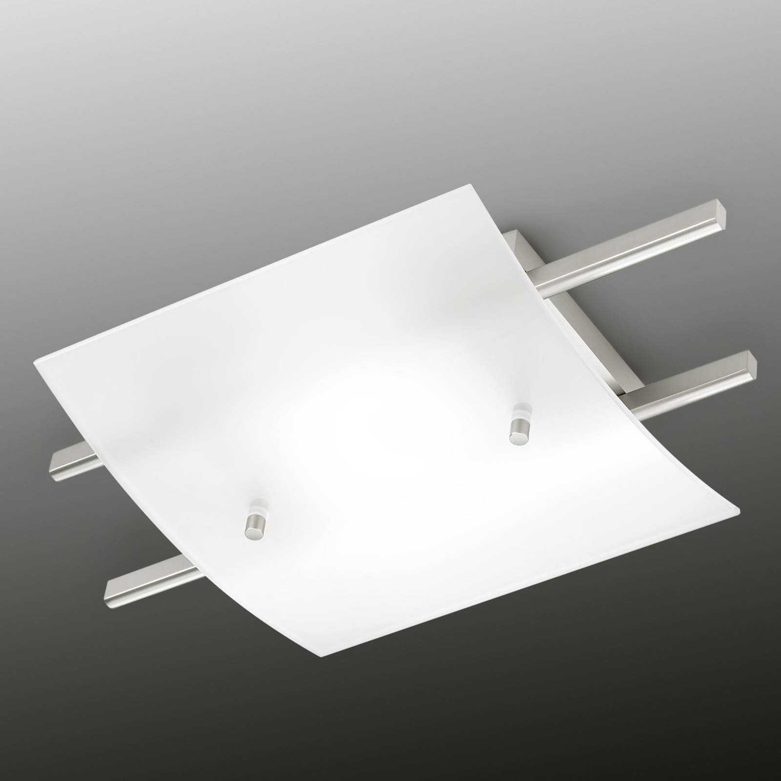 Marie LED-taklampe med satinert skjerm