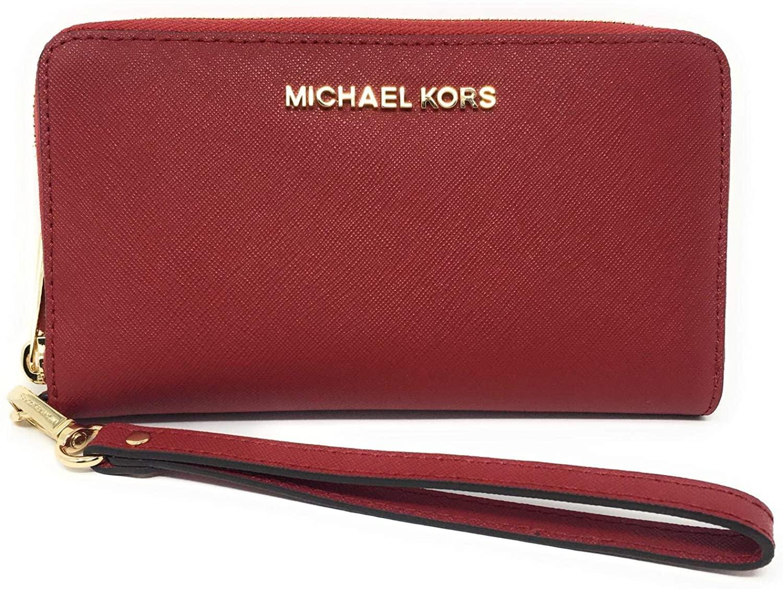 Michael Kors Women's Jet Set Case Wallet Red MK29368