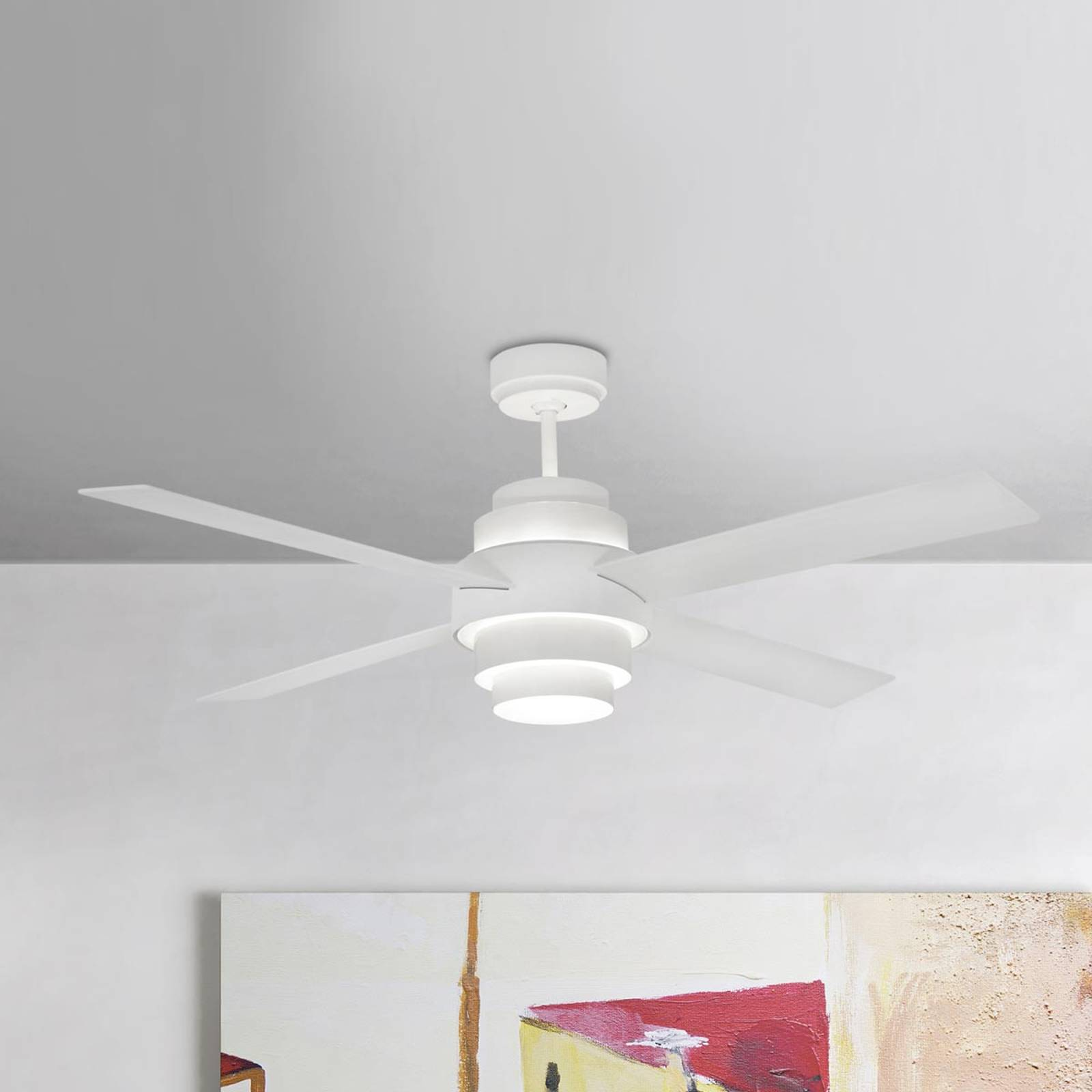 Tehokas kattotuuletin Disc, LED