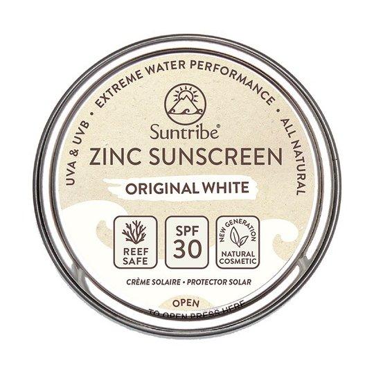 Suntribe Zinc Sunscreen Face & Sport SPF 30 - Original White, 45 g