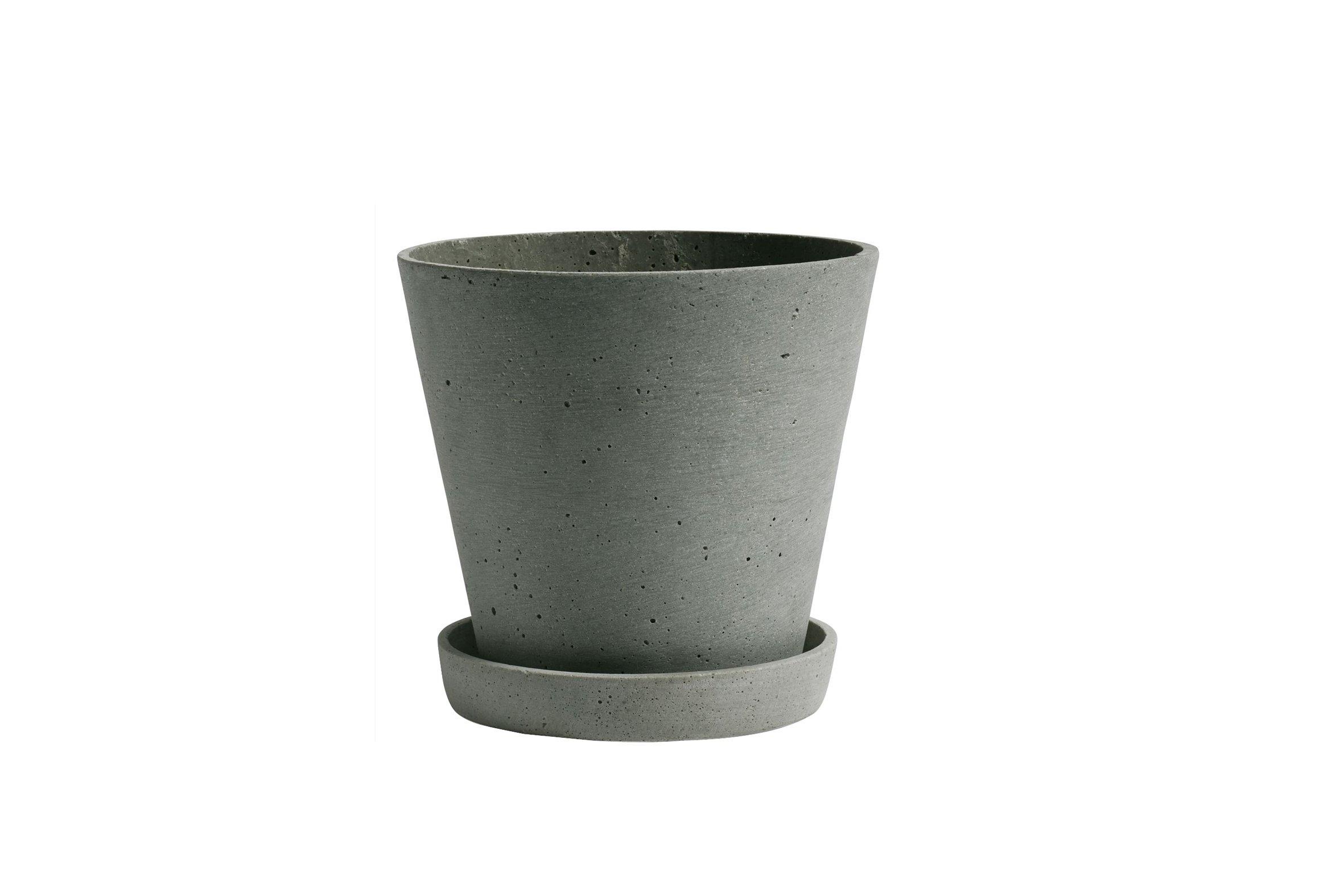 HAY - Flowerpot w/saucer Medium - Green