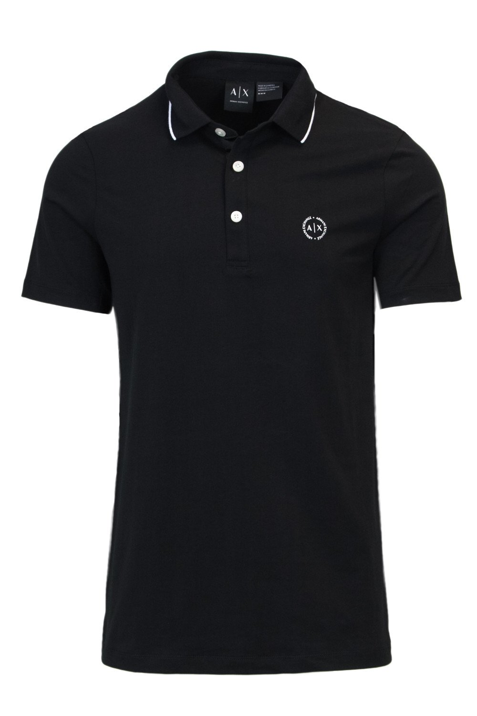 Armani Exchange Men's Polo Shirt Black 166307 - black-1 XXL