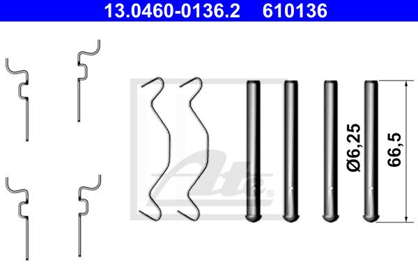 Tarvikesarja, jarrupala ATE 13.0460-0136.2